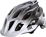 Fox Head Flux Race Helmet, White/Black, Small/Medium