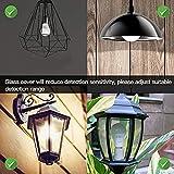 Elrigs E27 LED Lampe mit Bewegungsmelder und Dämmerungssensor, 7W ersetzt 60W, Reichweite, Zeit- und Dämmerungsschwelle einstellbar, Warmweiß (3000K) - 4