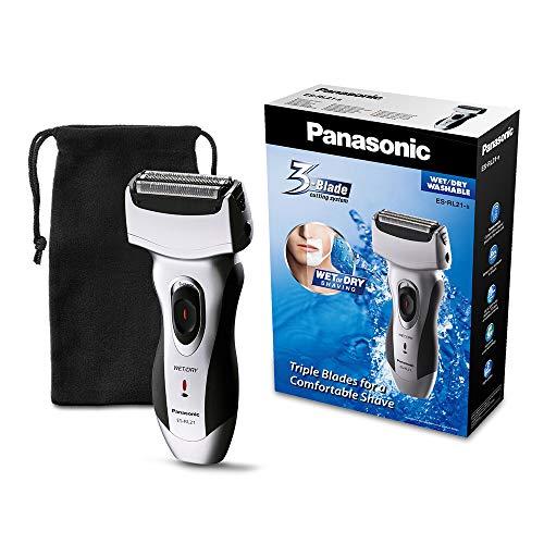 Panasonic ES-RL21 - Afeitadora eléctrica (húmedo y seco), color negro y plateado