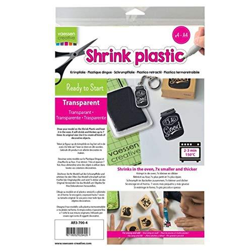 Vaessen Creative Plástico mágico, Transparente, 4 Hojas, Tamaño 21 x 30 cm,...