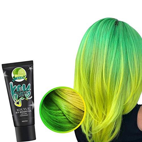 Crema de tinte para el cabello Wonder que cambia de color termocrómico, moda DIY, cera de color semipermanente para el cabello, pintura temporal, herramientas de peinado con efecto de cabello
