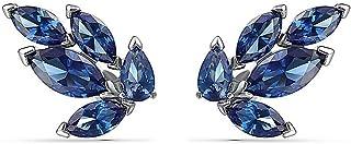 SWAROVSKI Women's Louison Stud Pierced Earrings, Blue, Rhodium plated