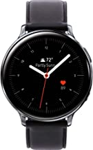 $289 » Samsung Original Galaxy Watch Active2 w/; auto workout tracking, enhanced sleep tracking analysis; STAINLESS STEEL CASE and LEATHER Band (International Model) (Silver, 40mm) No LTE