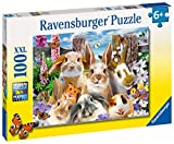 Ravensburger Rabbit Selfies 100 Piece Jigsaw Puzzle with Extra Large Pieces for Kids Age 6 Years and Up