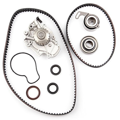 Timing Belt Water Pump Kit ECCPP TBK244 for Honda Accord Odyssey Acura CL Isuzu Oasis 2.2L 2.3L L4 SOHC 16 Valves Engine F22B1 F23A1 F23A4 F23A5 F23A7 (timing belt kit with water pump)