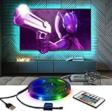 BestLuz Gaming Monitor Backlight for 27-60 Inch TV & Monitor, 13.12ft LED RGB Strip 5V USB Powered with Remote Control Kit, DIY Bias Tap Lighting for Living Room and Gaming Setup Decorations