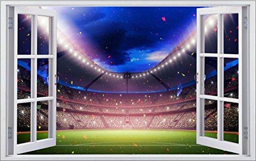 Fussball Stadion Wandtattoo Wandsticker Wandaufkleber F1212 Größe 60 cm x 90 cm