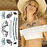 Handaxian 5pcs Tatuaje Pegatina Palabra Latido Ruso Tatuaje Chica Brazo 5pcs-17