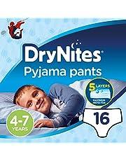 Huggies DryNites Pyjama, 4-7 years, Boy, 17-30 kg, 16 Bed Wetting Diaper Pants