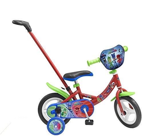 Toimsa- Pjmasks Vélo pour Enfant avec Canne directionnelle sous Licence Les pyjamasques 10\