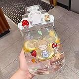 Botella De Agua Sin BPA, Botella Deportiva De 1200ML Water Bottle con Asa para Fitness, Gimnasio, Oficina, Pesca, Actividades Al Aire Libre (Color : B, Size : 1200ml)