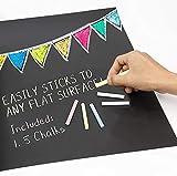 Itian 45 x 200cm Panel de PVC Adhesivo Removible, Memowand con Paño de Limpieza, Pegatinas Cuttable (Negro)