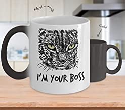 Cat Lover Changing Color Coffee Mug or Gift for your BOSS, Have fun