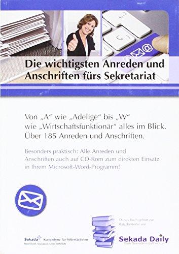 Die wichtigsten Anreden & Anschriften fürs Sekretariat: Von A wie Adelige bis W wie Wirtschaftsfunktionäre