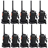Retevis RT24 Walkie Talkie Profesionales PMR446 sin Licencia 16 Canales CTCSS DCS Walkie Talkie Recargable con Cargador USB Walkies Profesionales con Auriculars (5 Pares,Negro)