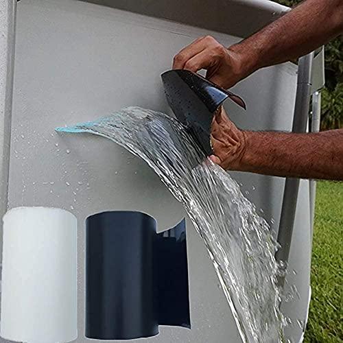 Hicollie Reparatur-Klebeband Unterwasser Klebeband Abdichtband Reparaturband für Pool Gartenrohr-Auslauf-Reparatur wasserdichtes Klebeband Reparatur-Hafthilfe (Weiß)