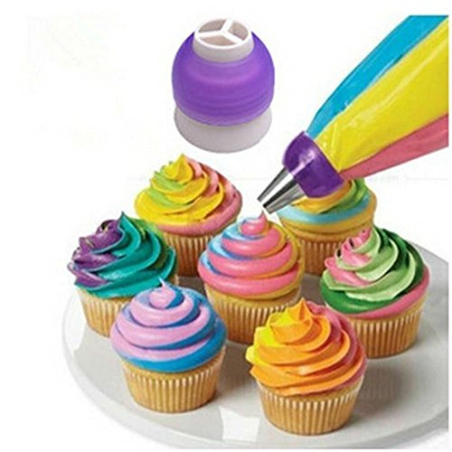 Lumanuby Creative Poche à Douille pour glaçage de gâteau Crème Pâtisserie Buse Converter Coupler Outil de décoration, Violet