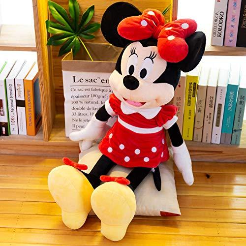 WYSTLDR Juguete de Peluche clásico de Mickey Minnie, Lindo muñeco de Mickey Mouse, muñeca de Trapo, Pareja, Regalo de cumpleaños para niña Minnie 60CM