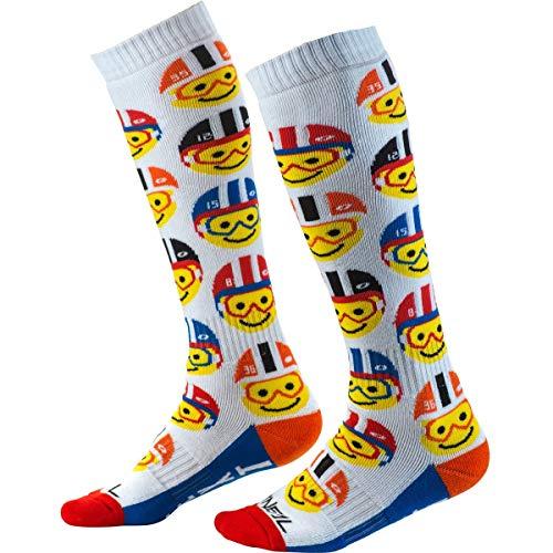 O'NEAL | Motocross-Socken | Kinder | Motocross Enduro | Schweißabsorbierendes Material, Verstärkte Maschen, Strapazierfähiges Material | Pro MX Youth Emoji Racer Sock | Multi | One Size