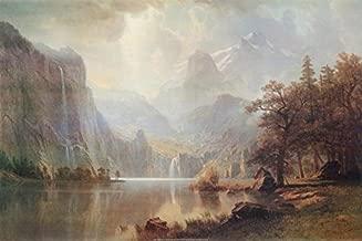 Buyartforless in The Mountains 1867 by Albert Bierstadt 36x24 Landscape Museum Art Print Poster
