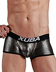 sexy leather boxers for men snake skin
