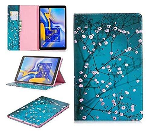 ZRH Accesorios de pestañas para Samsung Galaxy Tab a A2 10.5, Funda de Cuero PU de Oso de Flip Owl para Samsung Galaxy Tab a A2 10.5 (Color : 10)