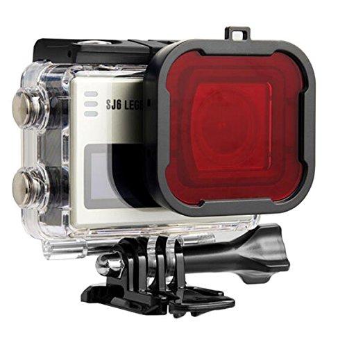 Forspero Sjcam Accesorios Filtro De Buceo Rojo Filtro Para Sjcam Sj6 Legend Actioncamera