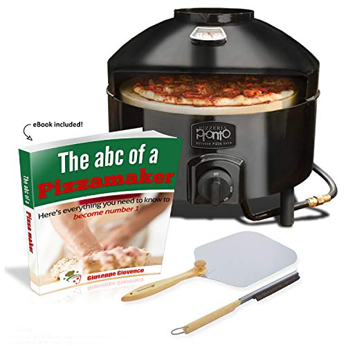 Pizzacraft Pronto Outdoor Pizza Oven with Brush and Peel. eBook Included!