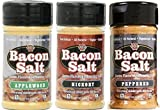 J&D's Bacon Salt Variety Pack, Low Sodium & Natural (Pack of 3)