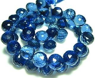 1/2strand- zafiro azul cristal de cuarzo facetado cebolla Briolettes–piedras measure- 8mm