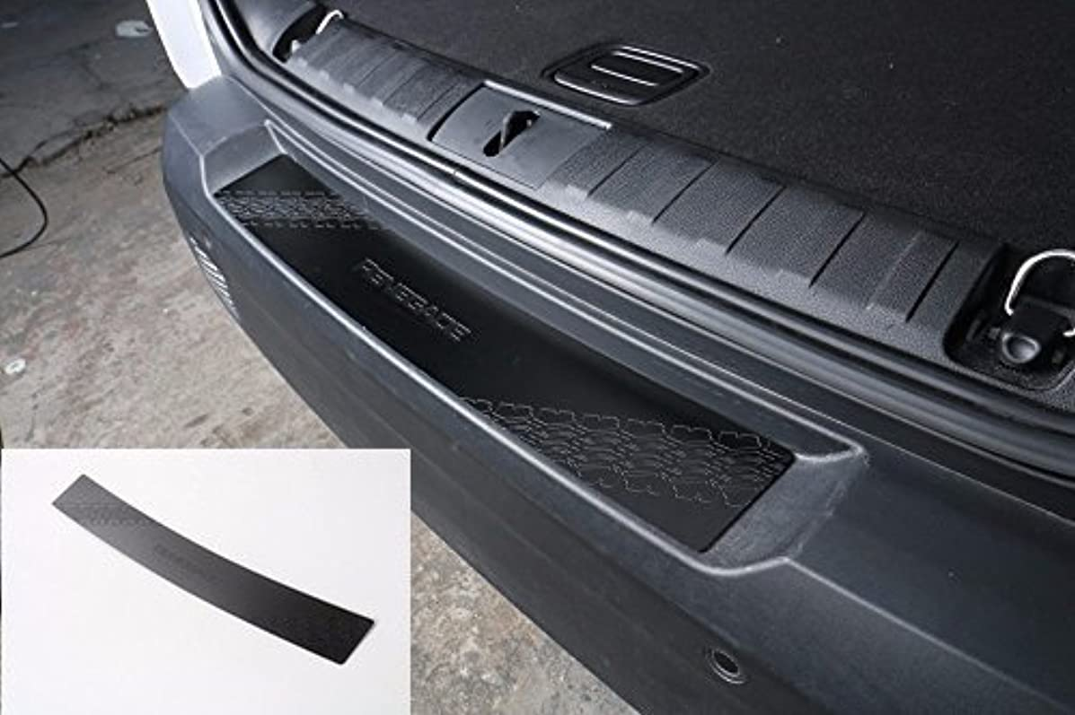 Nicebee Black Rear Bumper Liftgate Scuff Plate Protector Guard Cover Trim Stainless Steel For Jeep Renegade 2015 UP