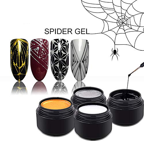 Nail Spider Gel Web Painting Creative Nail Art UV Gel Wire Drawing Elasticity Point Line Soak Off...