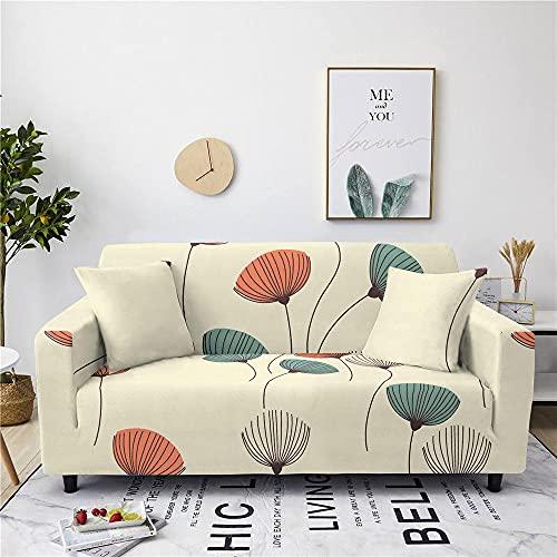 Sofaüberwürfe - Stretch Sofa Schonbezüge Plant - Universal Printed Simple Ginkgo Leaf Pattern Fitted Sessel Cover - Elastische Rutschfeste Polyester - Gewebe - Couchbezüge Für Möbelschutz, 1 Sit
