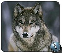 動物オオカミ2カスタマイズマウスパッド長方形マウスパッドゲーミングマウスマット