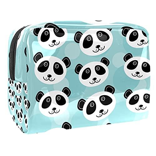 Borsa Cosmetica Da Viaggio Panda Dei Cartoni Animati Borsa Di Trucco Portatile Borsa Da Toilett Cosmetici Organizzatore Per Donna Ragazza 18.5x7.5x13cm