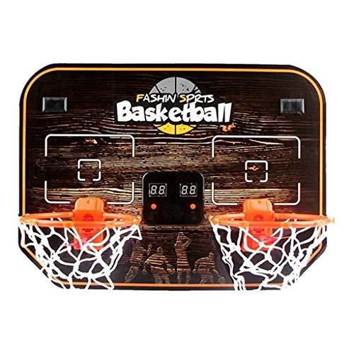 YWAWJ Basketballkorb Basketball Elektronische Doppel Hoop Schuss Basketball Arcade Game Anzeigers 2 Spieler, for Kinder und Erwachsene
