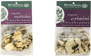 Mycological Dried Organic Maitake Mushrooms, 1 Ounce Package & Dried Organic Crimini Mushrooms, 1 Ounce Package