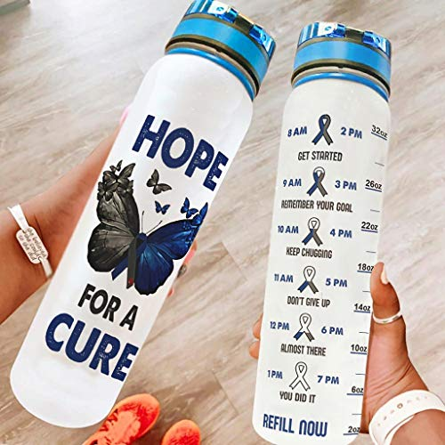Botella de agua deportiva con correa de transporte, ideal para fitness, gimnasio, camping, deportes al aire libre, color blanco, 1000 ml