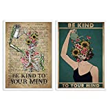 QZROOM Mental Be Kind to Your Mind Poster Mental Health