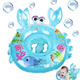 Gxhong Anillo de Natación Bebé Flotador de Natación para Bebé Anillo de natación Inflable Flotador Bebé Flotador Bebé Piscina Nadar Anillo para Niños Bebé Flotador para bebé con Asiento 4-48Meses Azul