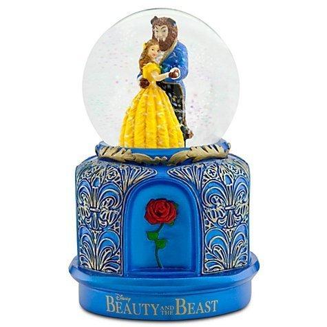 """ディズニーフィギュア スノーグローブ 美女と野獣 ベル 野獣 """"The Broadway Musical Snowglobe"""" Disney 893"""