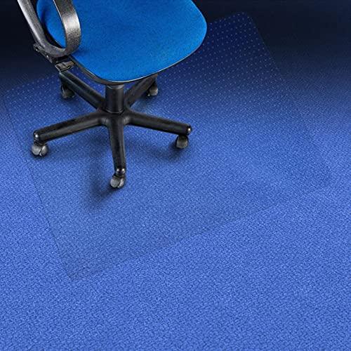 Transparenter Bodenschutz Antistatisch Performa | Bodenschutzmatte für Teppichboden | Bürostuhl Unterlage Bodenmatte Stuhlunterlage | Teppich Boden Schutzmatte Unterlegmatte (114 x 120 cm)