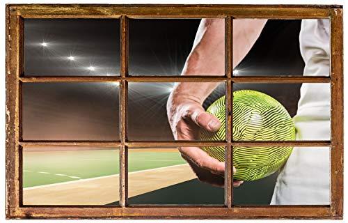 Handball Ball Spielfeld Sport Wandtattoo Wandsticker Wandaufkleber H0621 Größe 100 cm x 150 cm