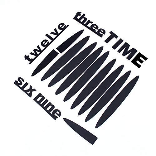 Weikeya Reloj de pared redondo reloj de pared adhesivo reloj de pared reloj de pared adhesivo con aleación + EVA / acrílico para el hogar oficina habitación