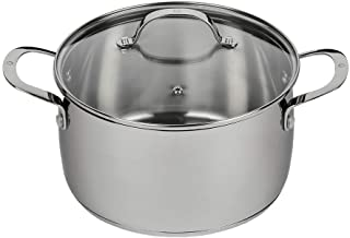 Stainless Steel Dutch Oven with Lid – Professional Cooking, Soup, & Stock Pot Evenly Distributes Heat – Oven- & Dishwasher...