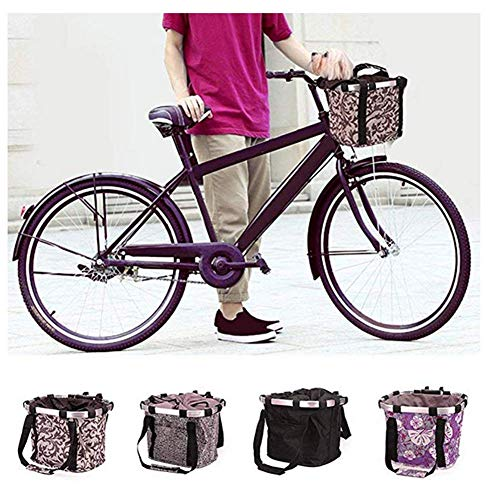 Pet Carrier Bicycle Basket Bag Pet Carrier, Traveler 2-in-1 Pet Bike Basket or Tote Carrier bag for Dogs and Cats (Up to 12 Pounds), Travel with Your Pet Safety - Foldable Detachable (Purple , 1) Review