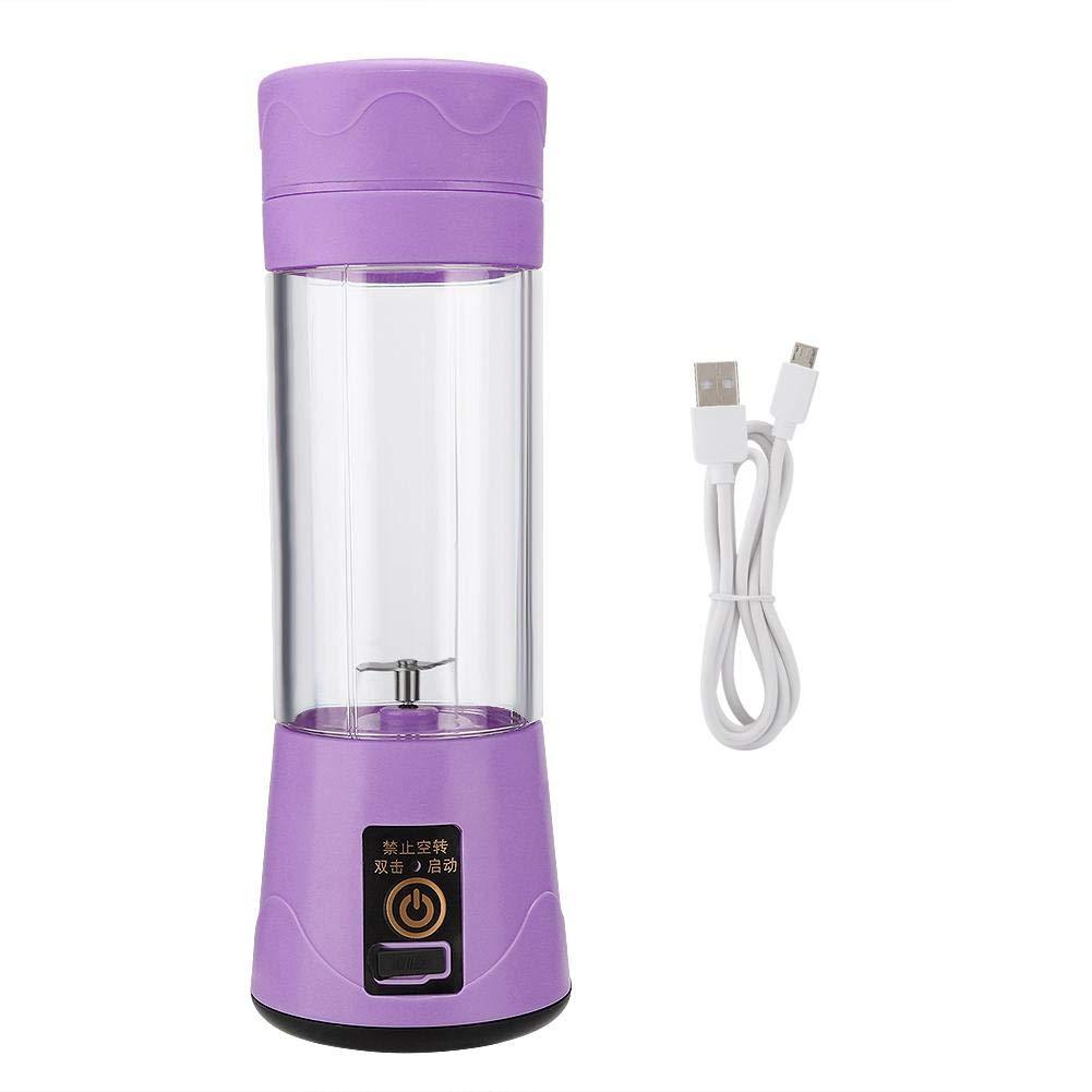 Caredy Licuadora electrónica USB, licuadora portátil Personal Batidora exprimidora Licuadora Recargable USB exprimidora para Batidos Máquina mezcladora de Alimentos(Púrpura): Amazon.es: Electrónica