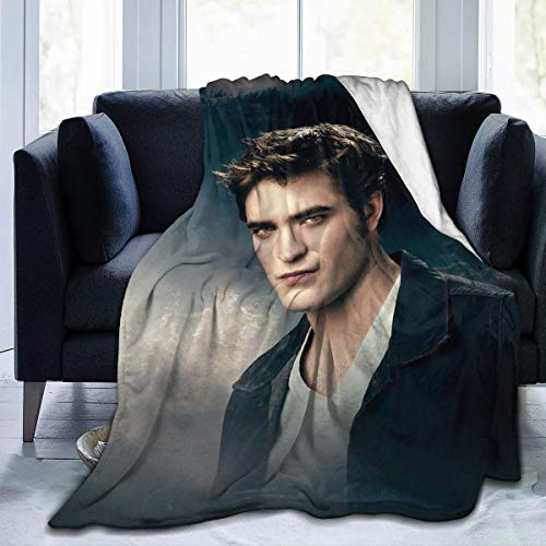 Edward Cullen The Twillight Saga Blanket Robert-Pattinson Ultra-Soft Micro Fleece Blanket Lightweight Cozy Flannel Throw Blanket for Children/Adults Decor Gift