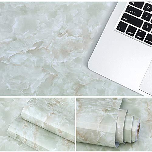 Gresunny 40cm*5m Papel de Contacto de mármol Papel Pintado Autoadhesivo Papel Adhesivo para Muebles película de Vinilo de mármol Impermeable Pegatinas de Pared para encimera de Cocina baño armarios