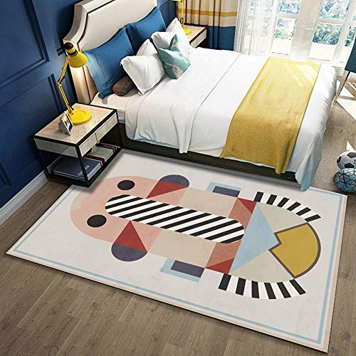 La Alfombra alfombras de Pasillo Alfombra Infantil Amarillo Azul Rosa Lindo patrón de Costura geométrica Sofas de Salon alfombras vestidor alfombras 40*60cm